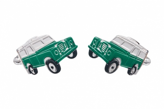 Green Off Road Vehicle Cufflinks